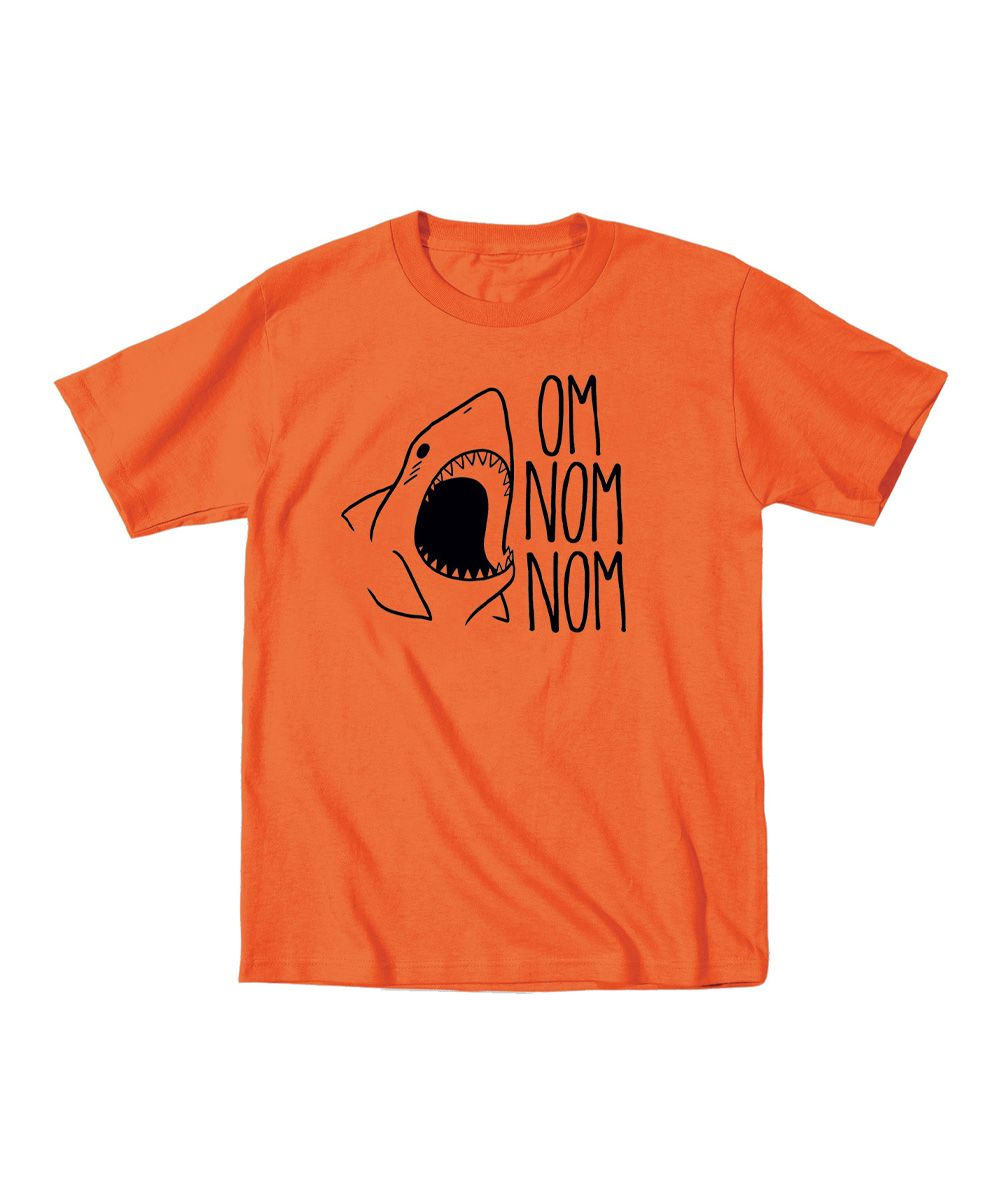 Orange 'Om Nom Nom' Tee - Toddler & Boys | zulily