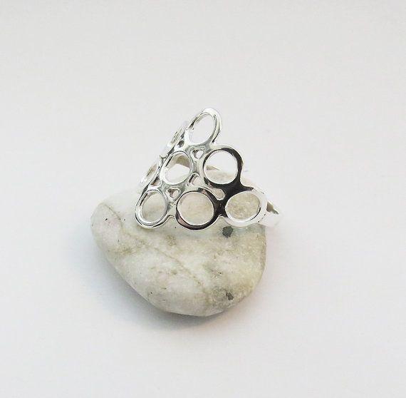 Modern Sterling Silver Ring - Trendy Everyday Jewelry - Handmade Jewelry