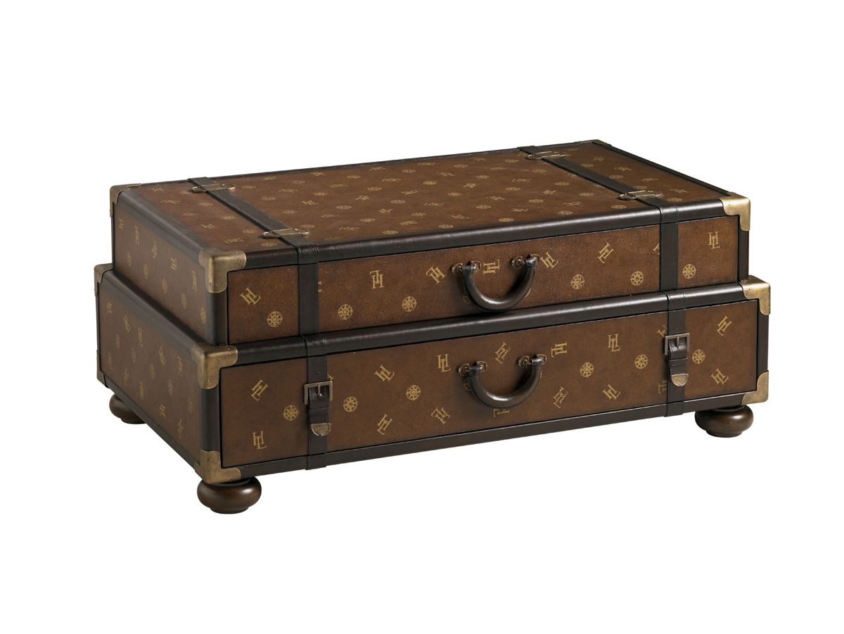 Henry Link Trading Co Henry Link Steamer Trunk Cocktail Lexington Home Brands Lexington Furniture Round Ottoman Coffee Table Lexington Home [ 901 x 1200 Pixel ]