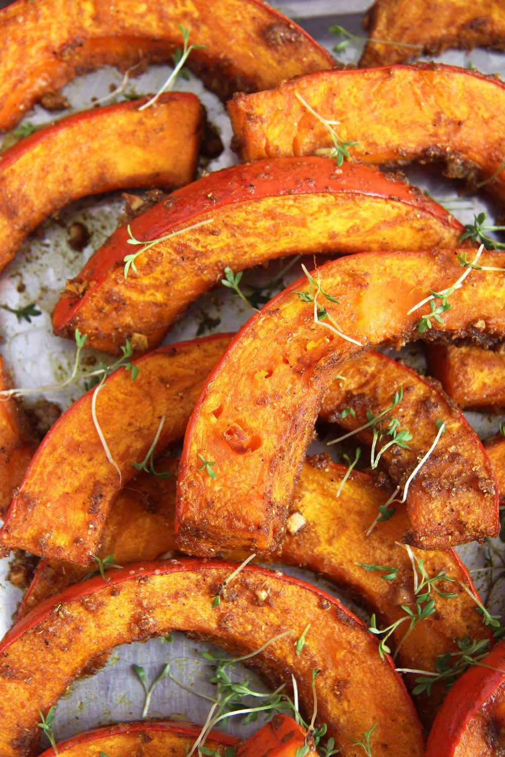 Oven Roasted Pumpkin Recipe Spicy Wedges Recipe Roasted