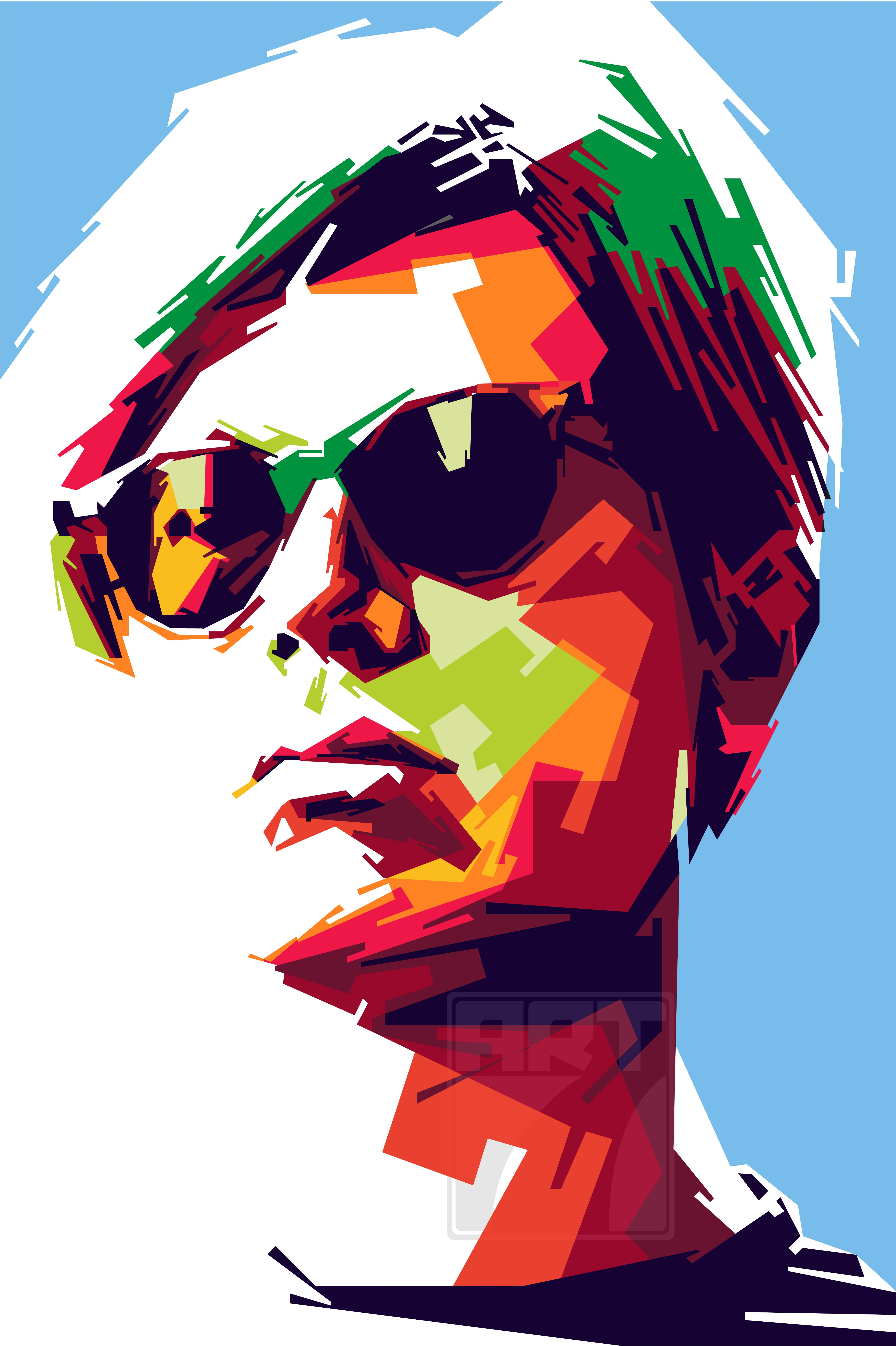 Andy Warhol In WPAP Pop Art style from Indonesia, Pop
