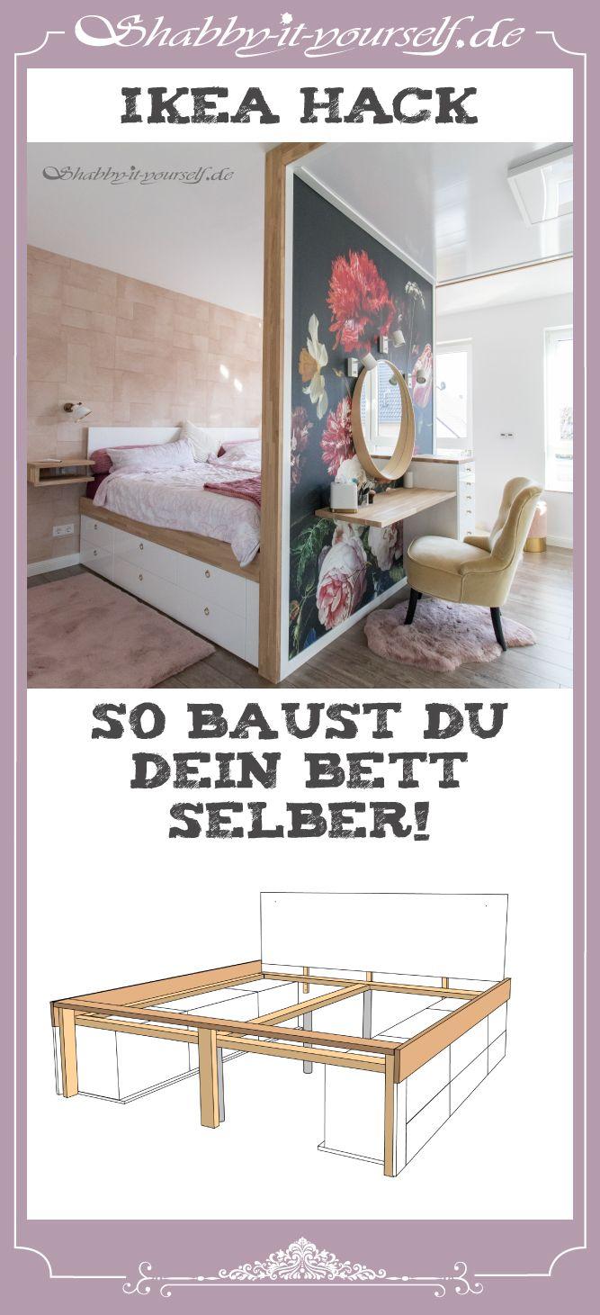 Anleitung zu meinem Schlafzimmerkonzept mit DIY Bett und Raumteiler