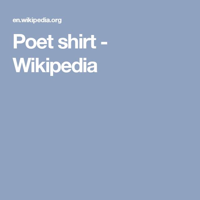 f08f5f0b05 Poet shirt - Wikipedia