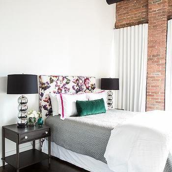 Loft bedroom with Exposed Brick Wall, Contemporary, Bedroom