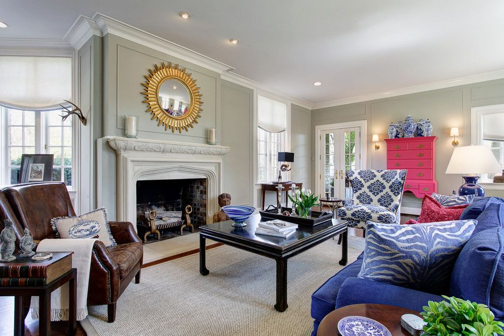 Graceful Pink And Blue Home Remodel Traditional Living Room Mesmerizing Blue Color Living Room Designs Design Inspiration