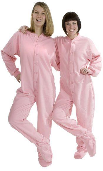 8f2fb1f486 Big Feet Pajamas Adult Pink Fleece One Piece Footy  48 - SHOP http