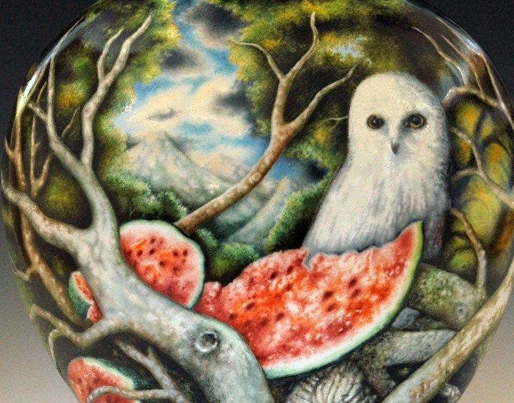 """Kurt Weiser Platters   Kurt Weiser, """"Untitled Jar"""" 2013, porcelain, china paint, 19.5 x 12 x ..."""