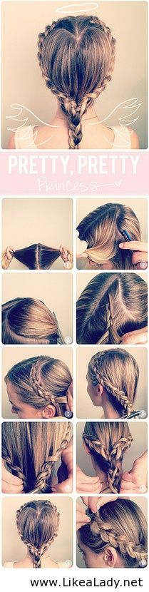 DIY Heart Braid Tutorial Perfect for valentine's day