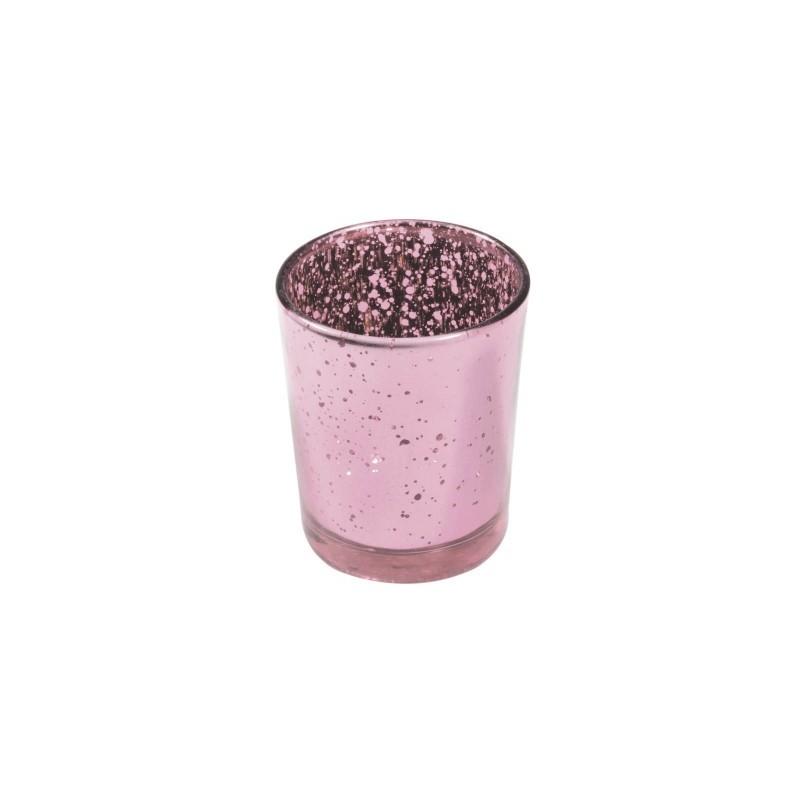 Bougeoir Rose Pastel Metal 5 5x6 7cm Bougeoirs Rose Pastel
