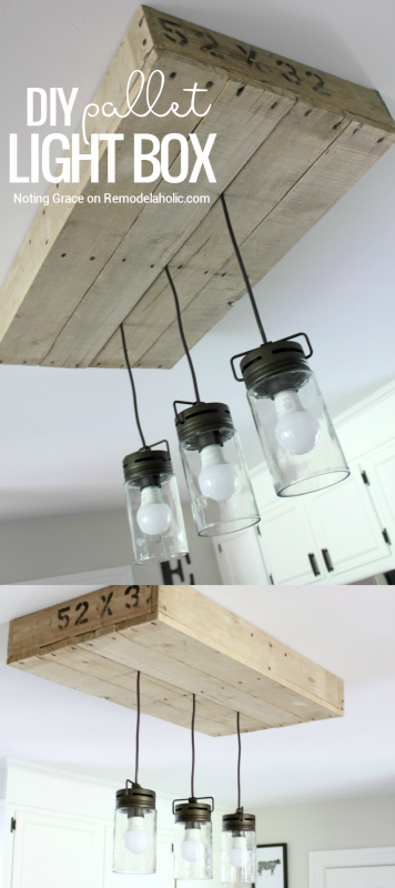 How To Make A Pallet Wood Light Box Remodelaholic Rustic Light