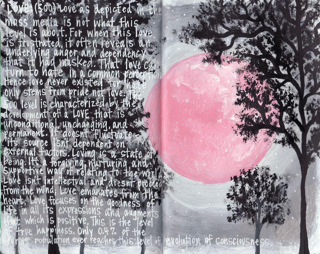 pink moon (by petalthrow)
