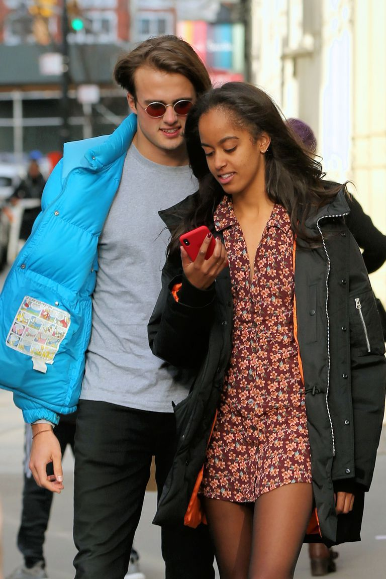 Malia Obama Demonstrates How to Wear Florals in the Winter | Obama ...
