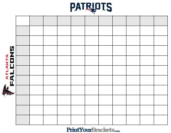 How To Play Super Bowl Squares Superbowl Squares Football Squares Template Super Bowl