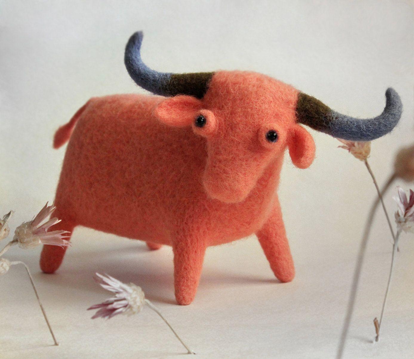 bull by Wooolsculpture on Etsy https://www.etsy.com/listing/220525174/bull