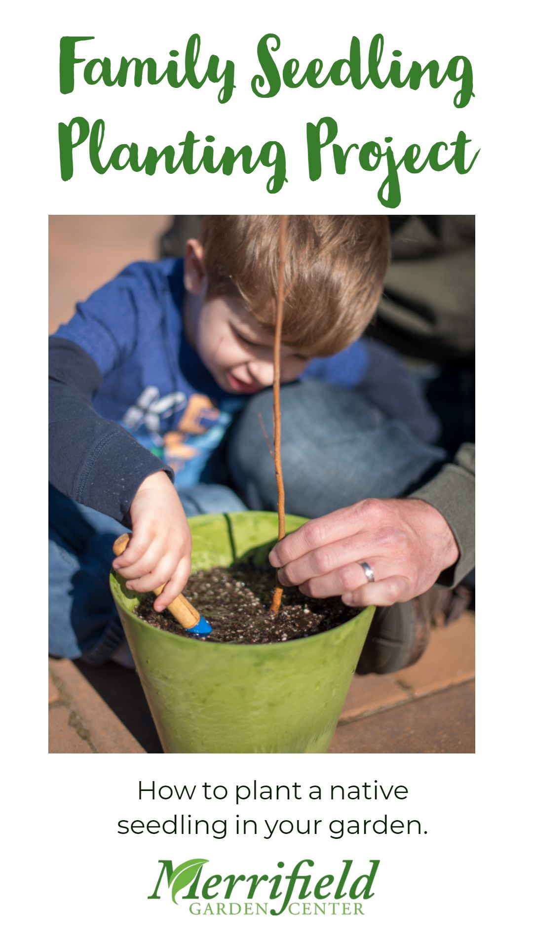 Plant a native tree seedling with your family for Arbor