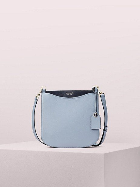 a57d7301d Kate Spade Margaux Large Crossbody, Horizon Blue Leather Luggage Tags,  Embossed Logo, Storage
