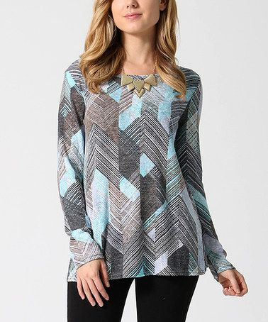This Blue Chevron Tunic is perfect! #zulilyfinds