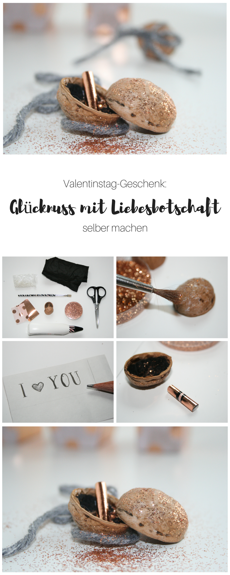 gl cksnuss mit liebesbotschaft zum valentinstag diy. Black Bedroom Furniture Sets. Home Design Ideas