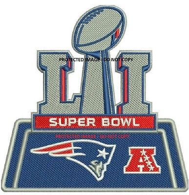 Details about NEW ENGLAND PATRIOTS SUPER BOWL 51 PATCH EMBROIDERED ...