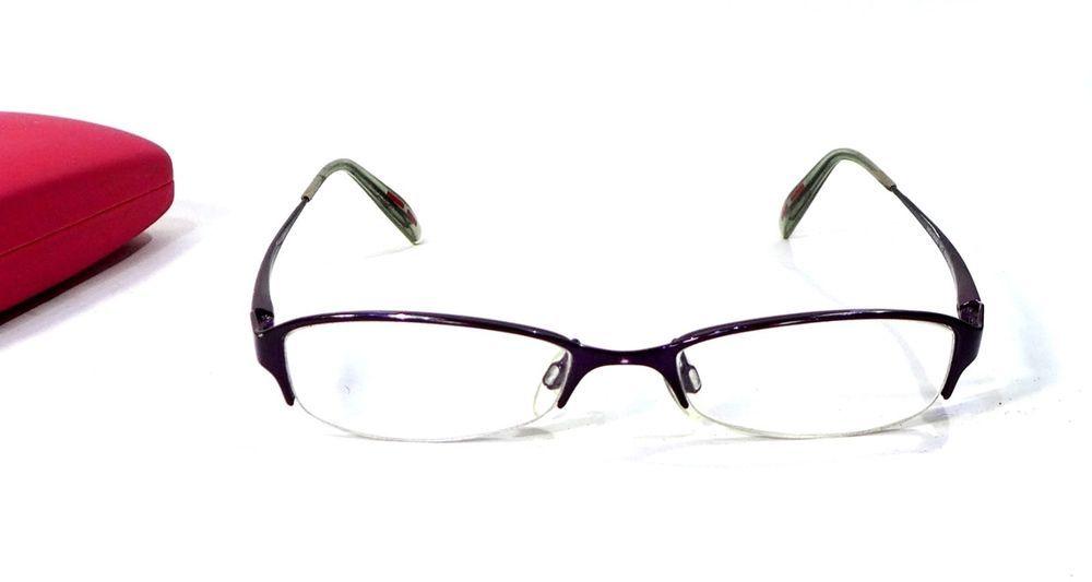 41a5627786 Hugo Boss Ladies Glasses Half Rim Frame Boss HG15595 Violet 51 18 135mm W   Case