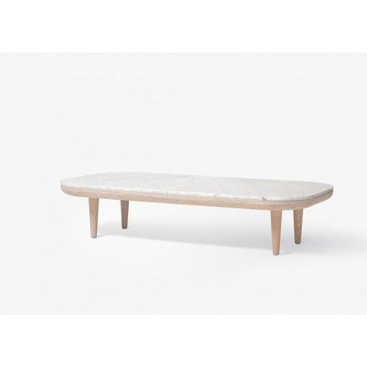 Table Basse Fly Marbre Sc5 Blanc And Tradition Table