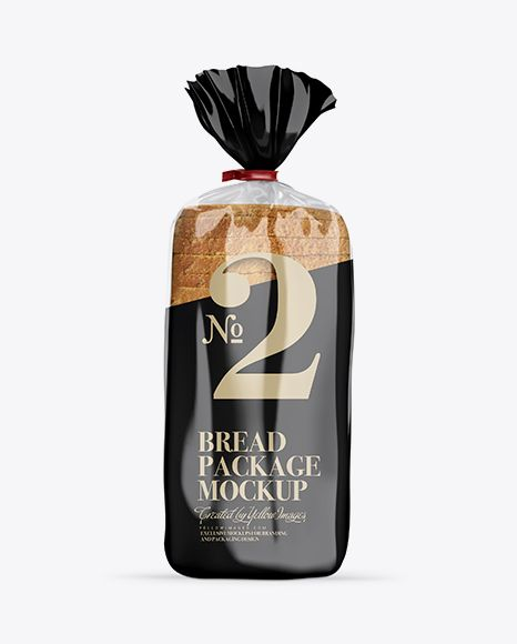 Download Glossy Bread Package With Clip Mockup Bread Packaging Mockup Free Psd Bottle Mockup