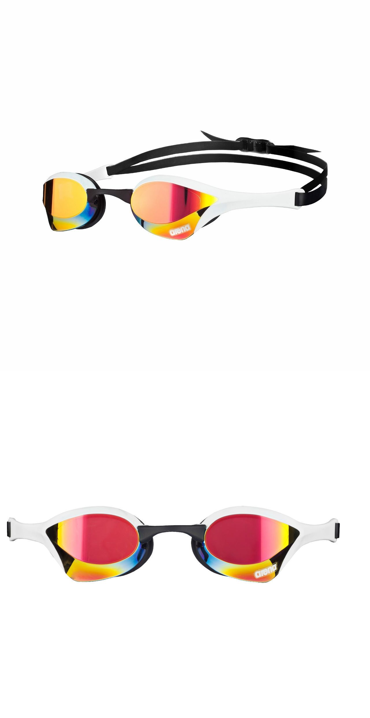 83346884b909 Goggles 74051  Arena Cobra Ultra Mirror Mirrored Swim Swimming Goggles Red  Revo White Black Nip BUY IT NOW ONLY   52.25