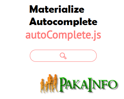 Simple Materialize CSS Autocomplete Ajax using PHP | general