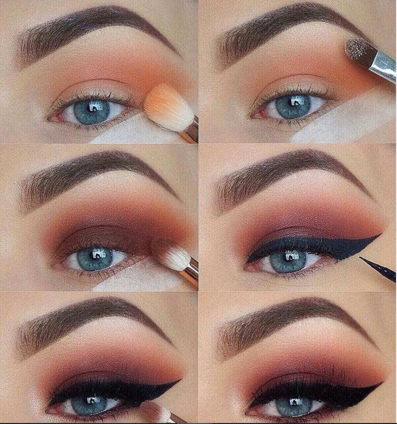 60 Easy Eye Makeup Tutorial voor beginners Stap voor stap ideeën (wenkbrauw en oogschaduw),  … – Boda fotos