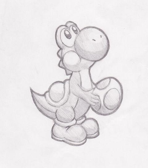 Photo of Yoshi Sketch from darklink570 on deviantart – #croquisfacile #darklink570 #Devia…