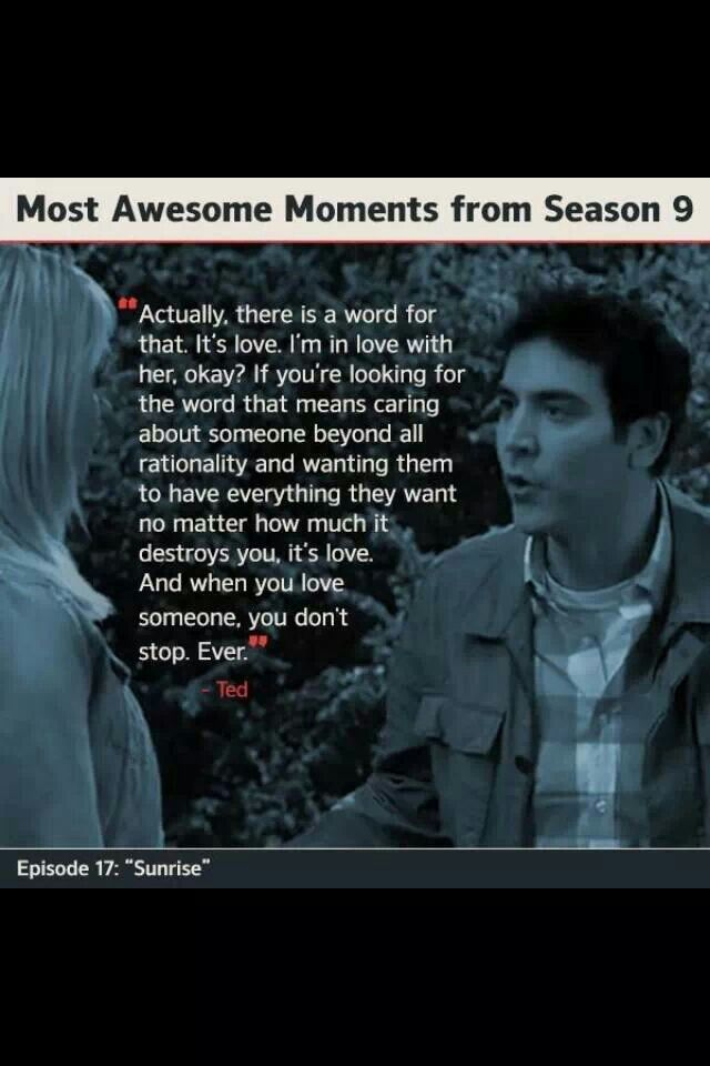 Ted mosby love