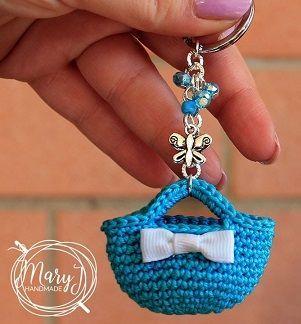 Preciosos llaveros mini mochila tejidos a crochet tutorial