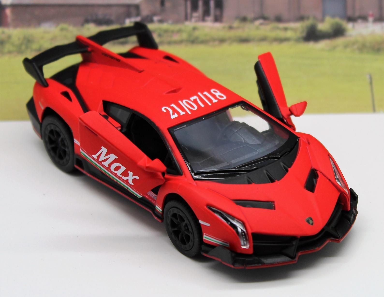 Wedding Day Gift Personalised Page Boy Usher Name Red Lamborghini Toy Car Boy