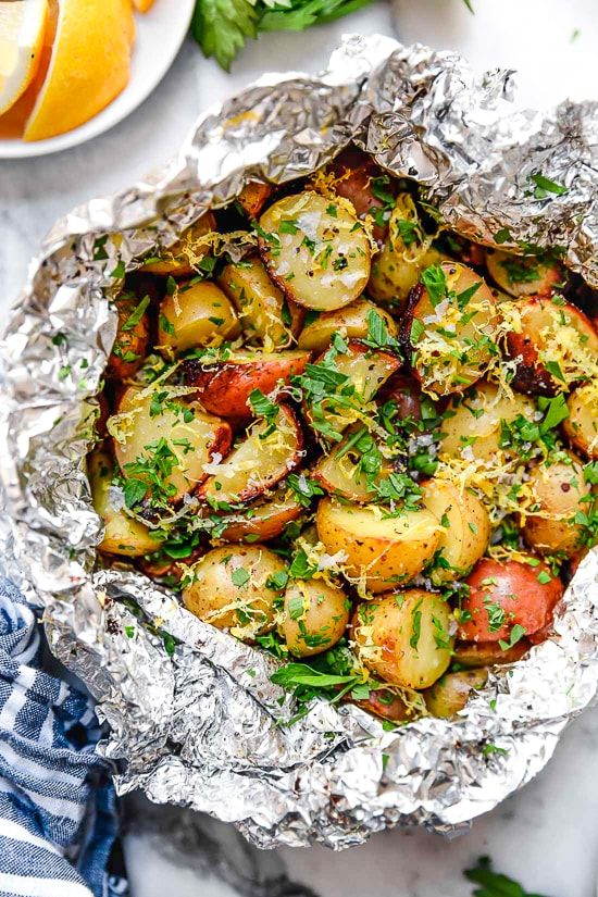 Easy Lemon-Parsley Potato Foil Packets - Skinnytaste