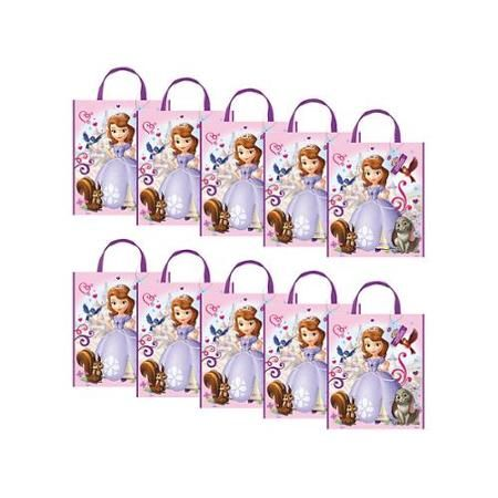 Sofia The First Party Tote Bag (Set Of 10) - Party Supplies