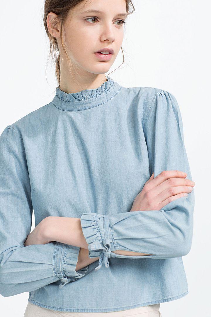 Zara: hits de 2016 | Blusas zara, Blusas blancas de vestir y
