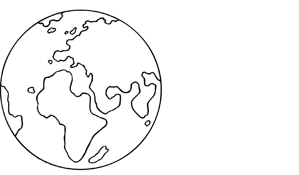 Kleurplaat aarde heelal Planeet