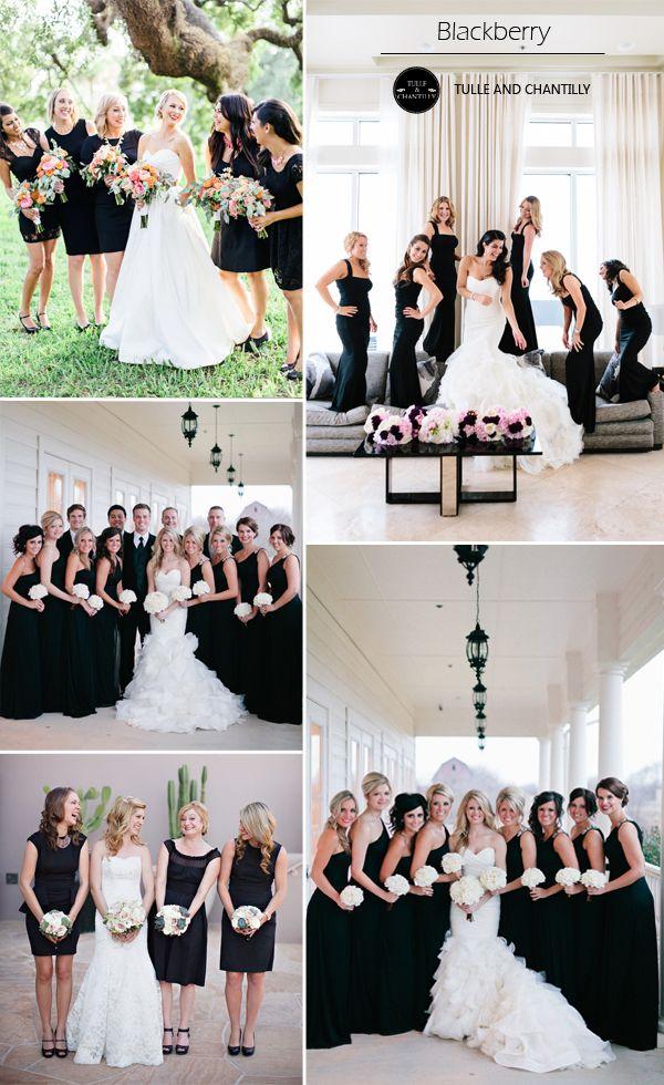 black color weddings