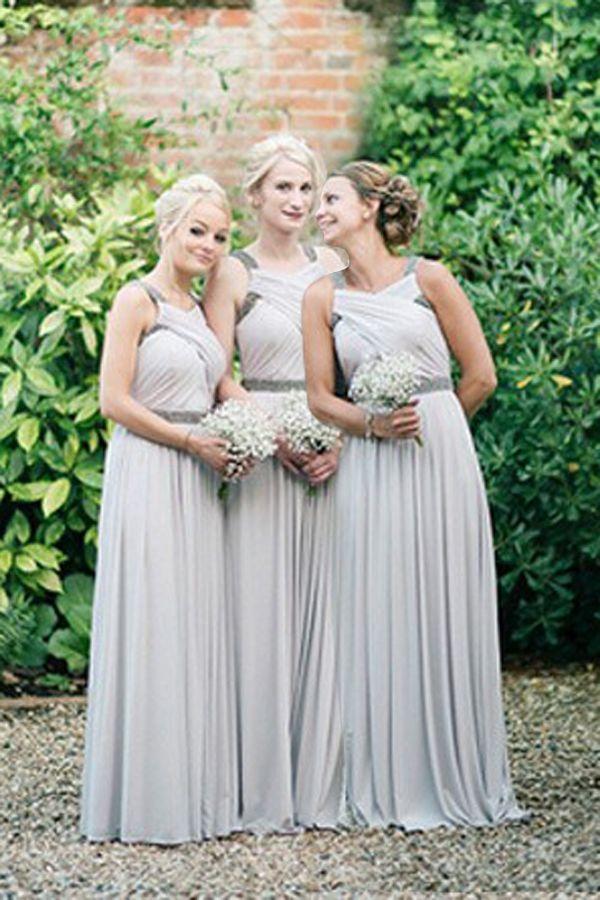 Elegant Bridesmaid Dresses Unique Bridesmaid Dress Silver Bridesmaid D Bridesmaid Dresses Long Chiffon Elegant Bridesmaid Dresses Light Grey Bridesmaid Dresses