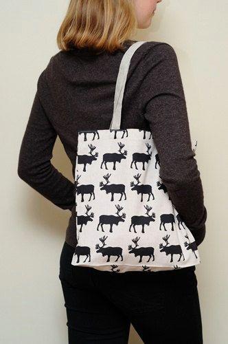Moose Market bag by JBworld on Etsy