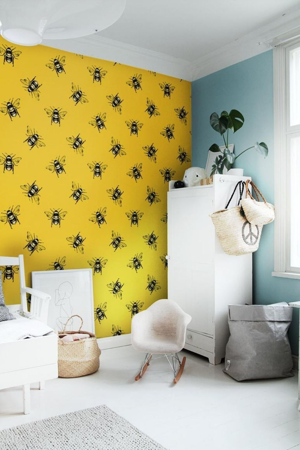 Bees Wallpaper Peel And Stick Wallpaper Yellow Black Etsy In 2021 Peel And Stick Wallpaper How To Install Wallpaper Yellow Wallpaper