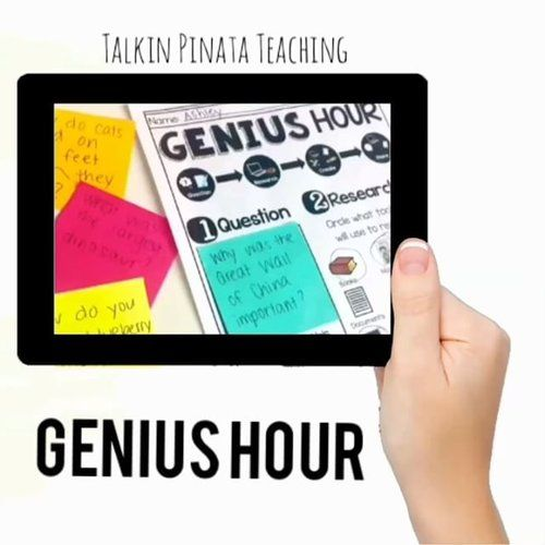 Genius Hour, also known as Passion Projects, encourage individuals - personal interests