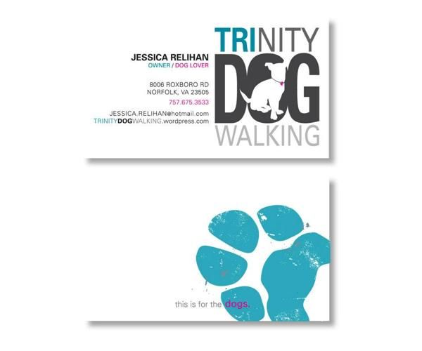 Dog trainer business card google search animalgrooming things dog trainer business card google search reheart Image collections