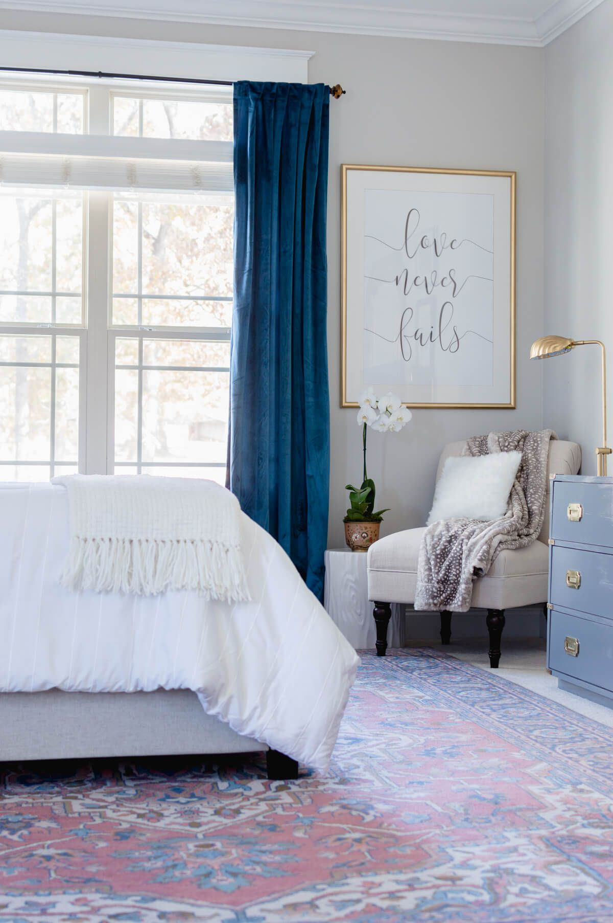 Curtains For A Blue Room One Room Challenge Orc Master Bedroom Reveal Bedroom Ideas