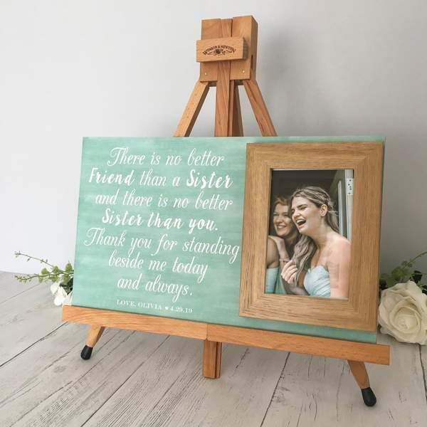 Personalised Picture Frame For Sister