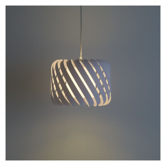 CLYDE Small fabric ribbon lamp shade white Buy now at