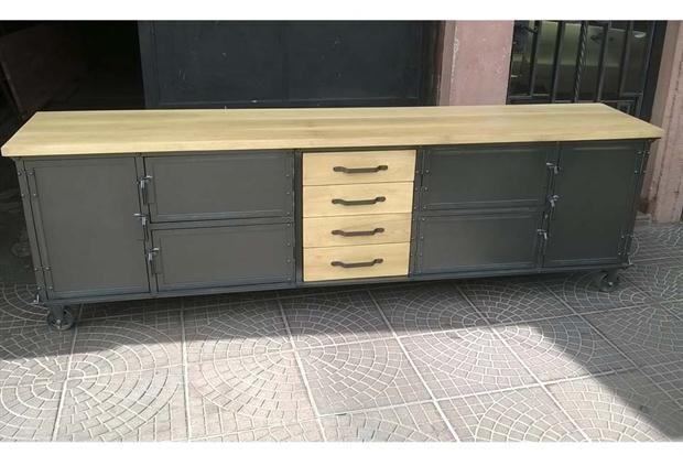 Muebles y accesorios en madera y hierro hierro madera y for Diseno de muebles de hierro