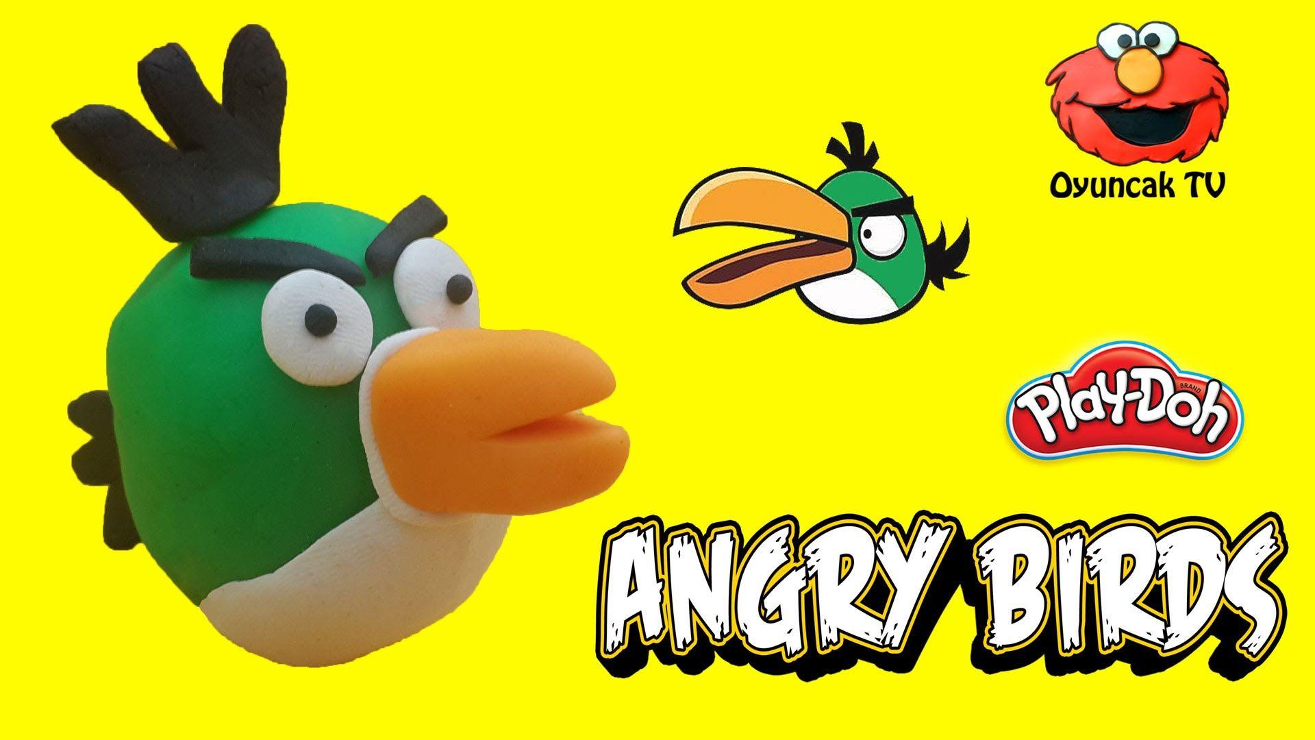 Angry Birds Buyuk Gagali Yesil Kus Play Doh Oyun Hamuru Ile Yapimi Oyuncak Tv Angry Birds Play Doh Oyun Hamuru