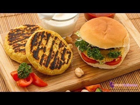 Chickpea burger – quick recipe Chickpea burger - quick recipe