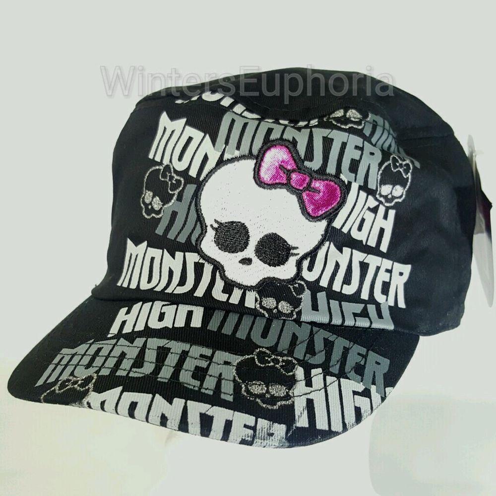 Mattel monster high cadet style hat fabric gray cap bow skull mattel monster high cadet style hat fabric gray cap bow skull girls youth kids biocorpaavc